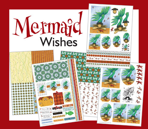 Mermaid Wishes Card Making Kit : Click to Enlarge